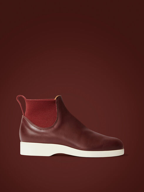 Burgundy Off White