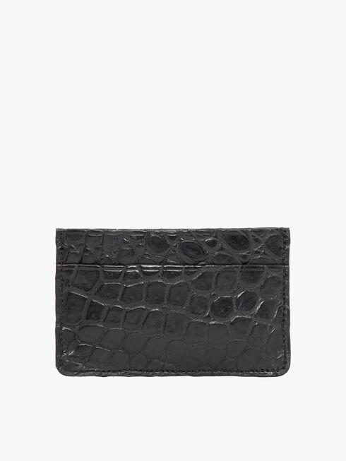 Card holder black croc