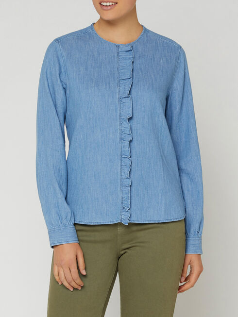 Darlington Denim Frill Blouse