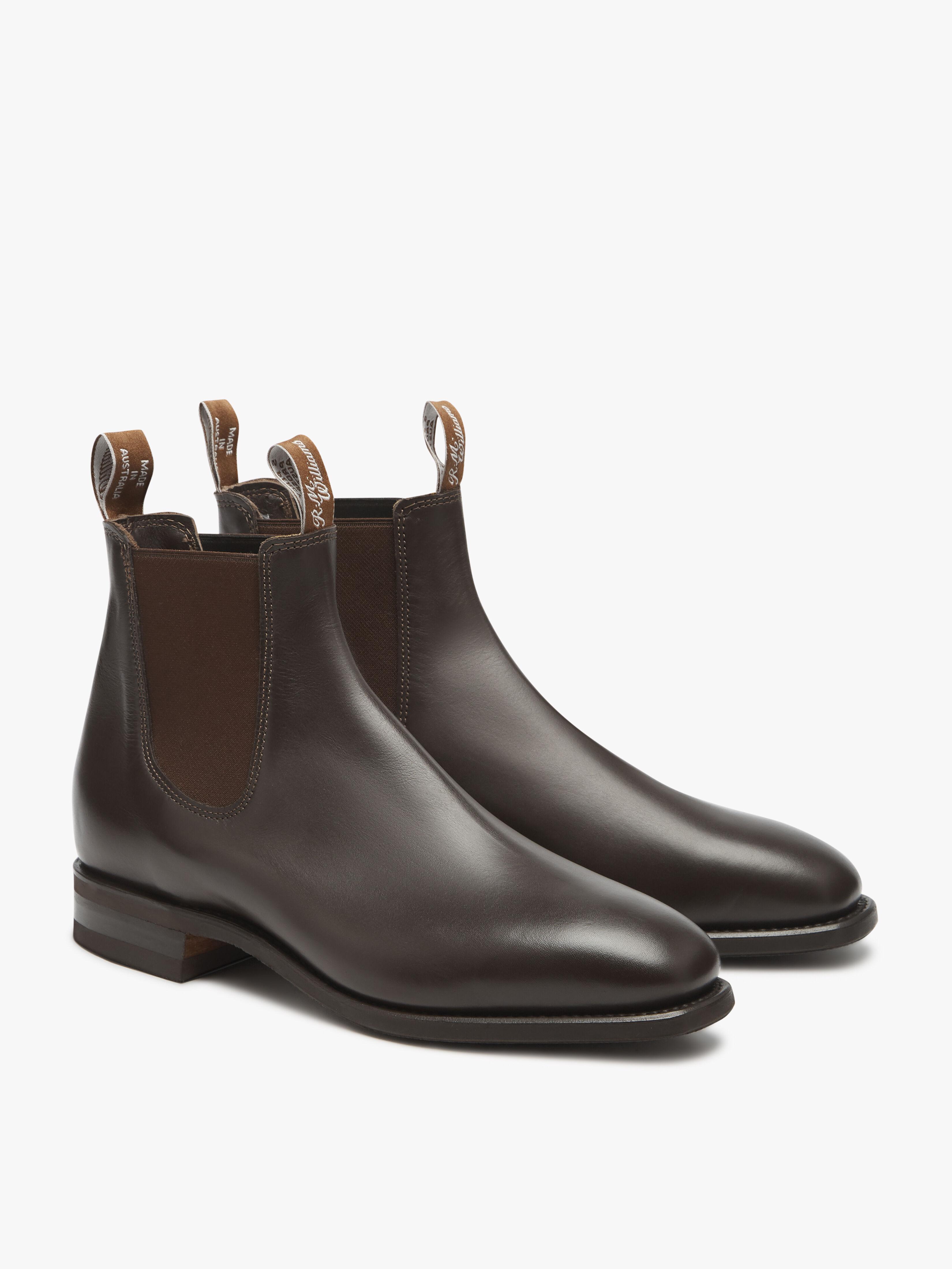 elastic sided dress boots