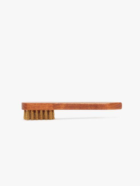 Suede Brass Bristle Brush